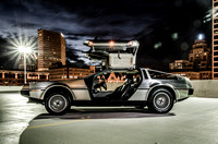 DeLorean at Night